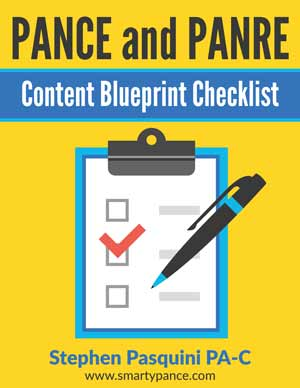 NCCPA CONTENT BLUEPRINT CHECKLIST