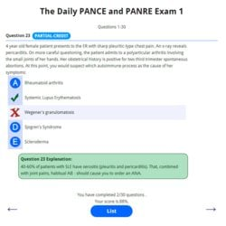 The Daily PANCE and PANRE Email Series Exam 1