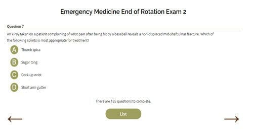 Emergency Medicine End or Rotation Exam Two