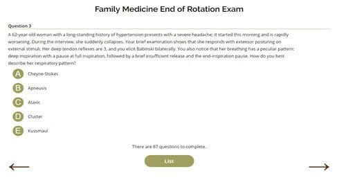 Family Medicine End of Rotation Exam