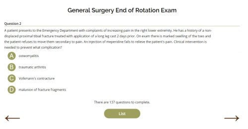 General Surgery End of Rotation Exam - SMARTY PANCE